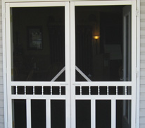 Some screen doors can cost more than $500 plus installation!  This door is expensive and needs to be installed professionally.  Magic Mesh is inexpensive and can be installed easily by you!